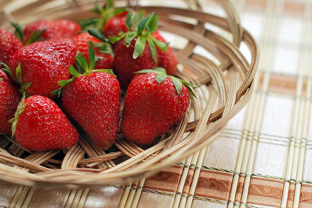 Strawberry, Berry, Red, Bowl, Basket, Fresh, Natural