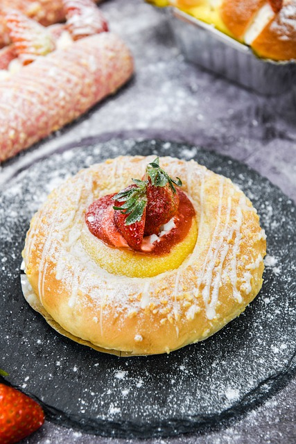 Strawberry Pudding, Cheese Bread, Baked Baking