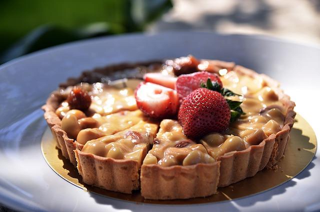 Food, Cake, Pie, Strawberry, Dessert, Plate, Sugar