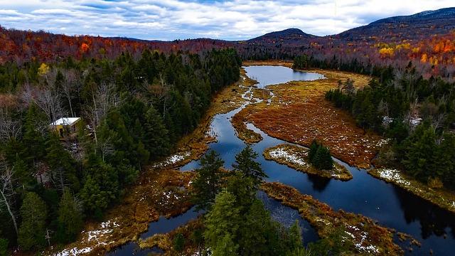Canada, Fall, Autumn, Landscape, Scenic, River, Stream