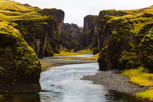 Iceland, Landscape, Stream, Water, Mountains, Tundra