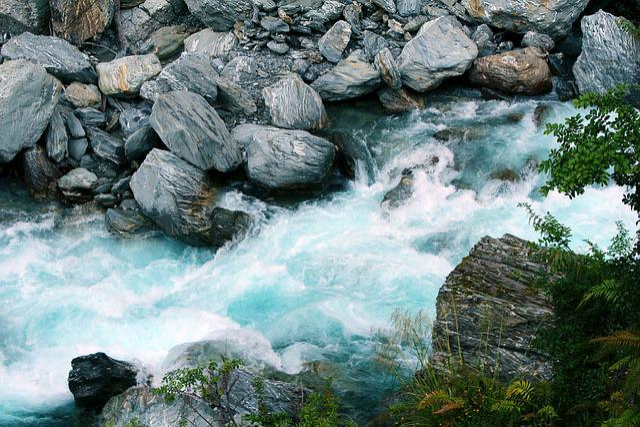 Waterfall, Streams, Natural, Water, Stone, New Zealand