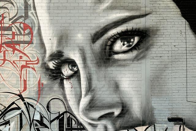 Face Woman, Graffiti, Grunge, Street Art, Graffiti Wall