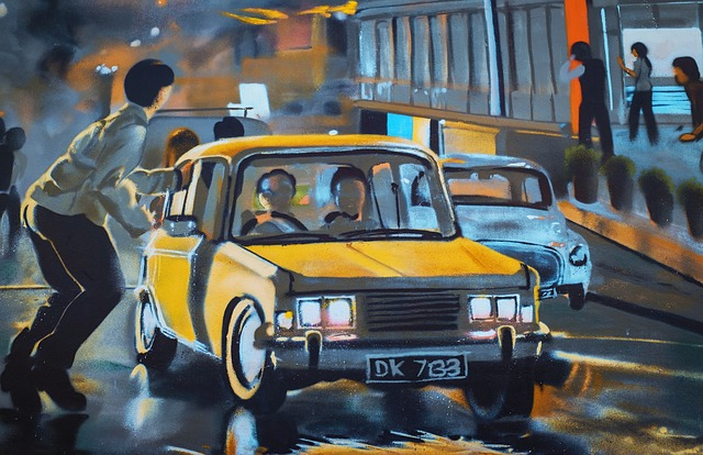 Graffiti, Street Art, Auto, Pedestrian, Road, City
