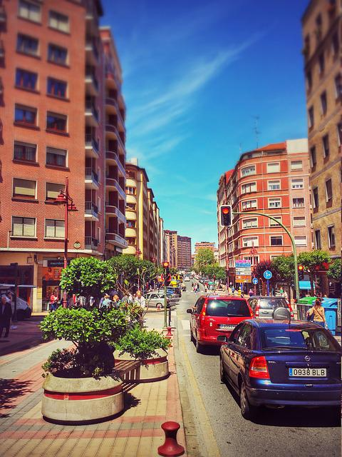Barakaldo, Vizcaya, Euskadi, The Road, Street, Cars