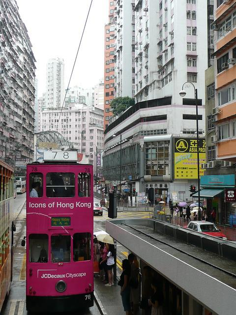 Hong Kong, Double Decker, Street Canyon