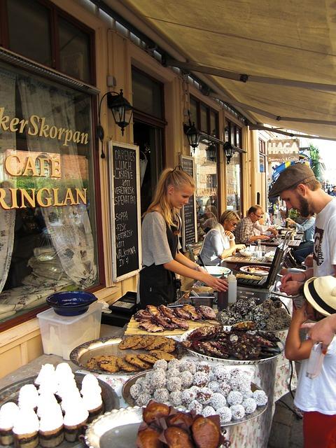 Street Coffee, Gothenburg, Sweden, Cafe, Downtown