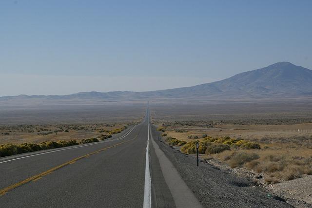 Wendover, Route, Nevada, Street, Road, Highway, Freeway