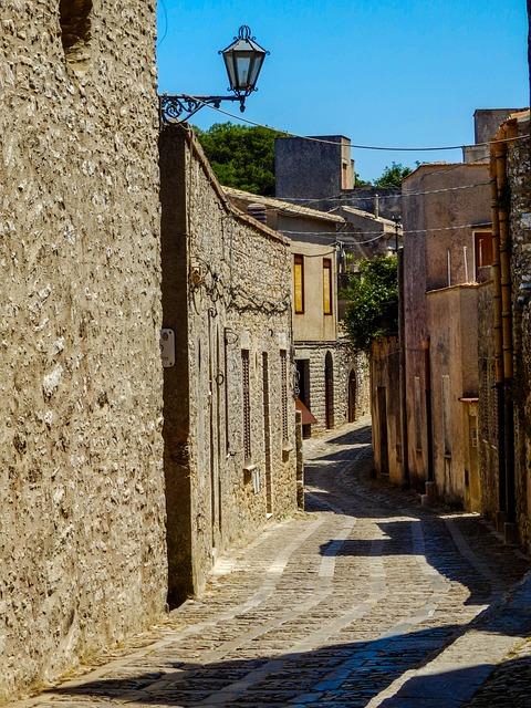 Construction, Monuments, Landscape, Street, Village