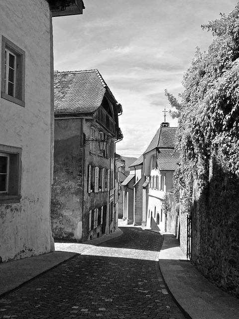 Lane, Narrow, Street, Architecture, Town, Pavement