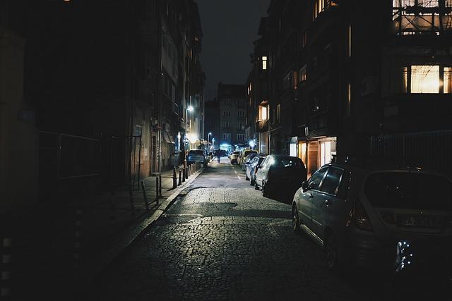 Street, Alley, Lane, Night, Dark, Urban, Town, City