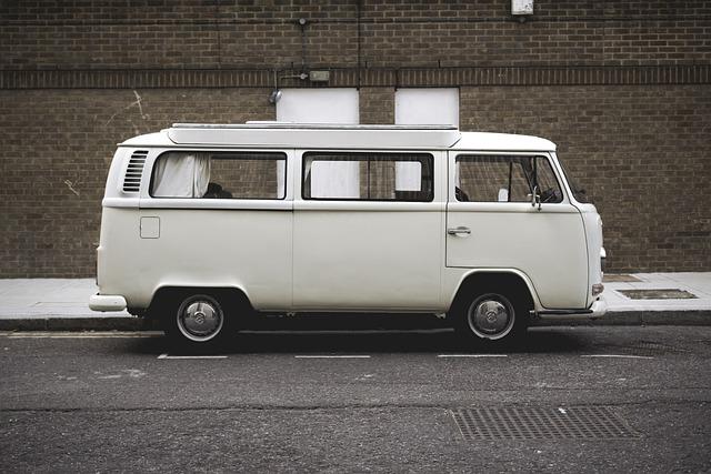 Automobile, Pavement, Road, Street, Van, Vehicle