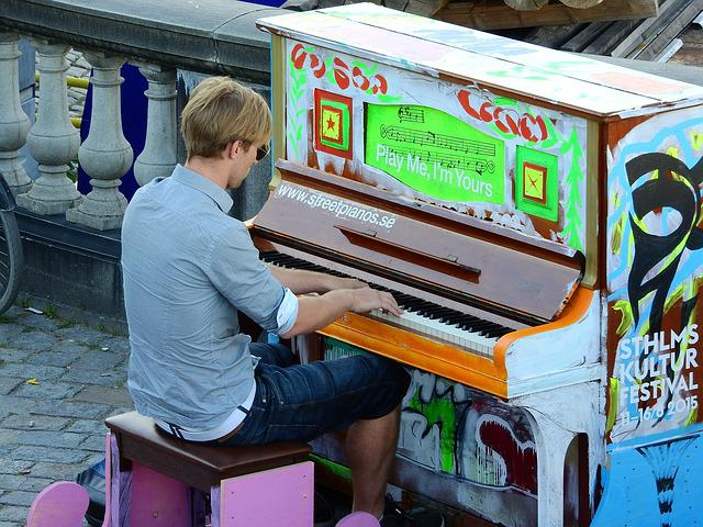 Piano, Street, On The Street, Man, Pianist, Pianino