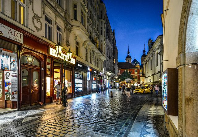 Prague, Praha, Czech, Republic, Street, City, Old, Town