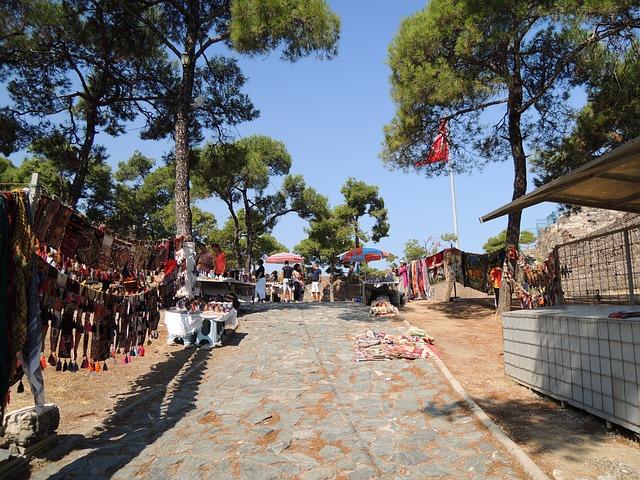 Turkey, Izmir, Street, Market, Souks Markets, Tree