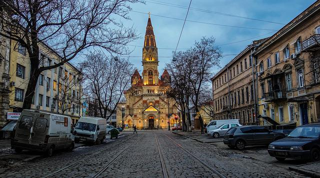 Odessa, The Church, Street, Machinery