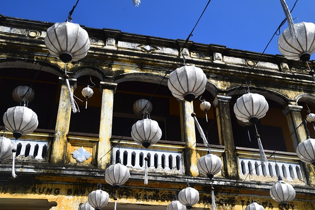 Vietnam, Lanterns, Travel, Old, Architecture, Street