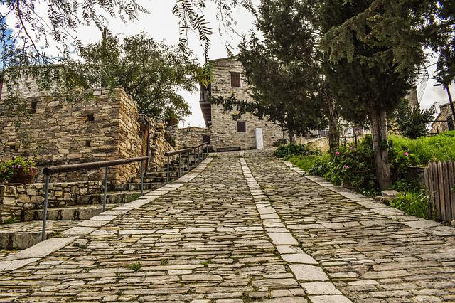 Architecture, Traditional, Street, Wall, Stone, Village