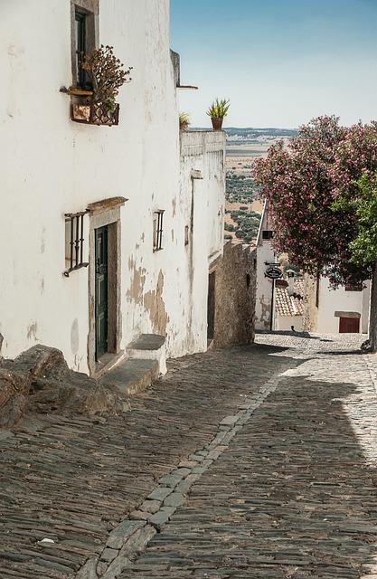 Portugal, Streets, Pavers, Medieval Village