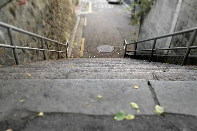 Stairs, Stone Steps, Streets, Street, Town, Floor