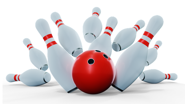 Bowling, Strike, Ball, Isolated, 3d