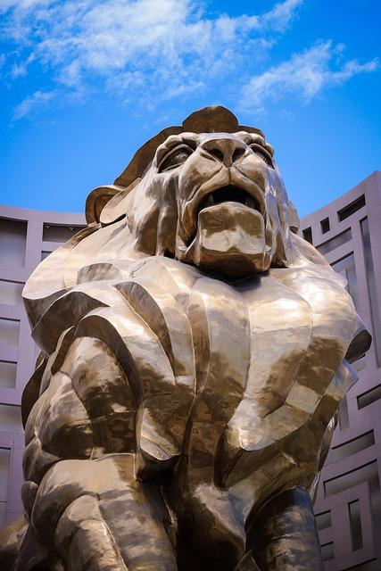 Mgm, Hotel, Lion, Casino, Vegas, Nevada, Strip, Las