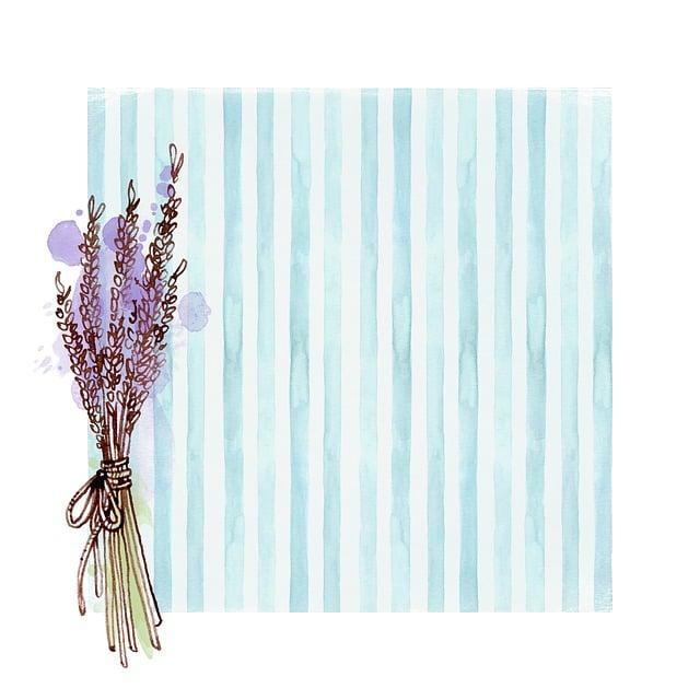 Floral, Plant, Lavender, Blue, Stripe, Scrapbooking