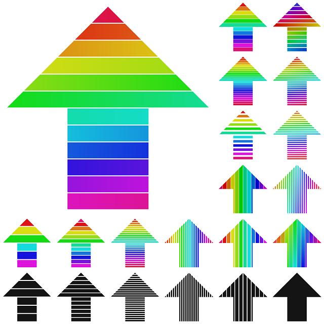 Arrow, Colorful, Logo, Stripe, Design, Graphic