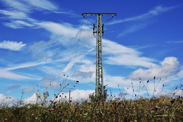 Strommast, Current, Power Line, Electricity