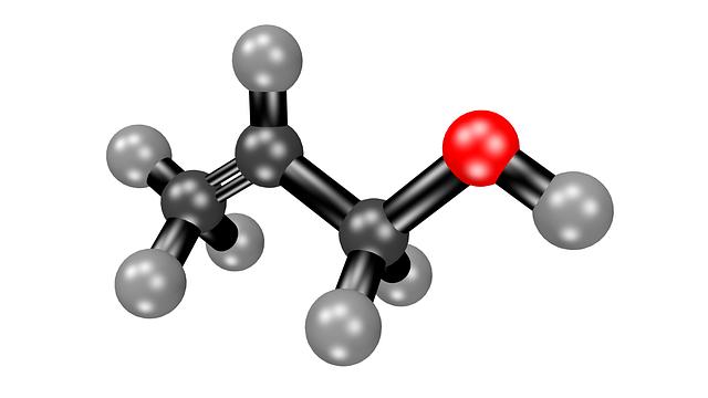 Acetone, Molecule, Structural Formula, Chemistry, 3d