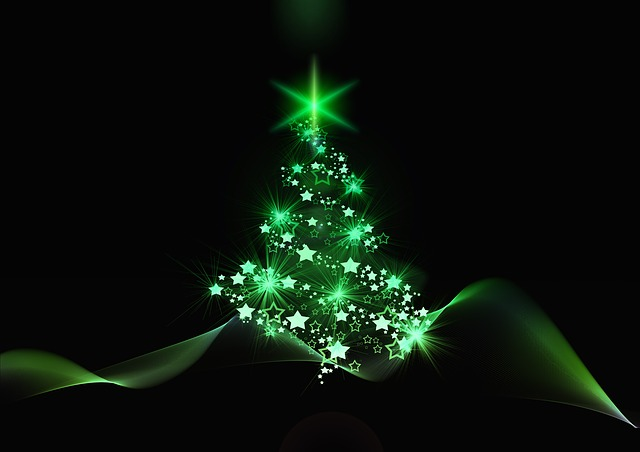 Christmas, Christmas Tree, Background, Structure, Blue