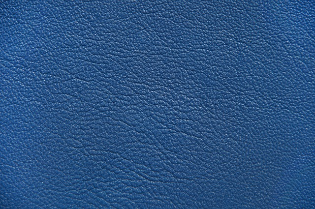 free photo structure bluish leather blue texture background