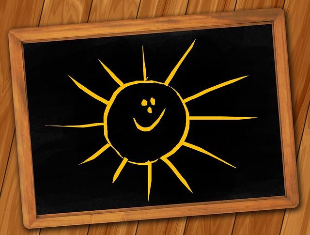 Board, Blackboard, Structure, Paneling, Sun, Laugh