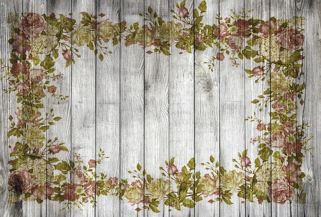 On Wood, Frame, Flowers, Roses, Edge, Structure