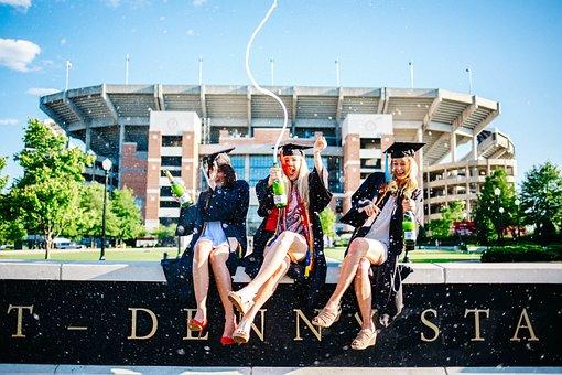 People, Women, Girls, Student, Sitting, Graduate