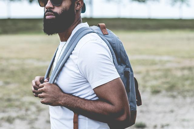 Guy, Man, Beard, Sunglasses, Backpack, Student, People