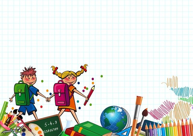 School, Students, Children, Board, Colored Pencils