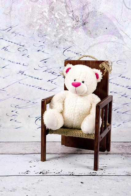 Teddy Bear, White, Studio, The Mascot, Fun, Sitting