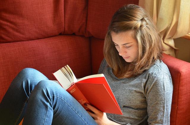 Read, Book, Girl, Study, Learn, Sofa, Leisure