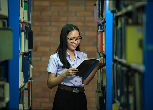 Library, Study Of, Classmate, Academic, Adult, Asia