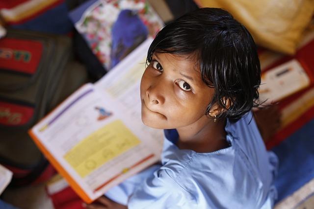 Children, Infant, Girl, School, Reading, Studying