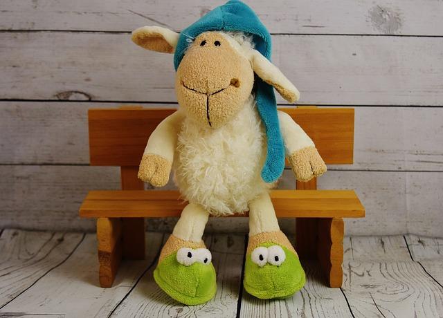 Sleepyhead, Sheep, Schäfchen, Cute, Stuffed Animal