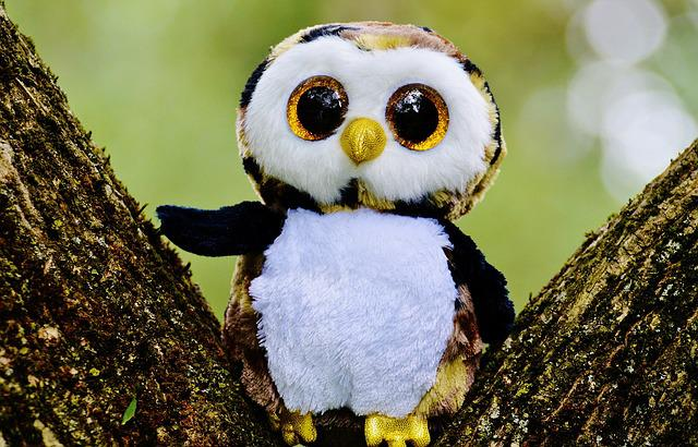 Owl, Glitter, Stuffed Animal, Cute, Goggle, Sweet