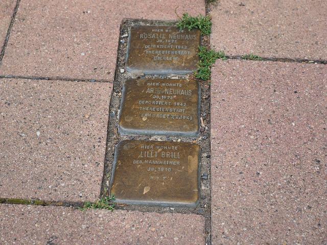 Stumbling Blocks, Memorial Plaque, Stone, Commemorate