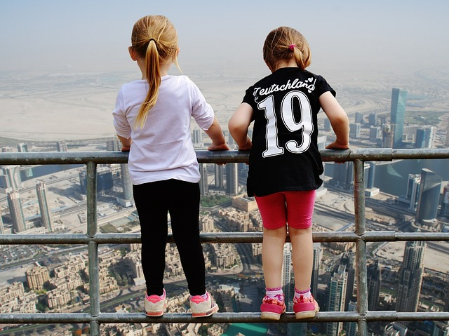 Dubai, View, Girl, Fence Brave, Gorge, Stunning