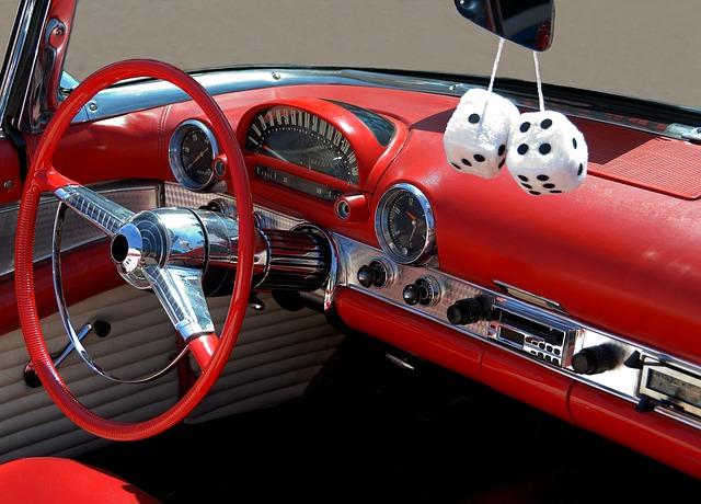 Classic Car, Interior, Design, Style, Dashboard