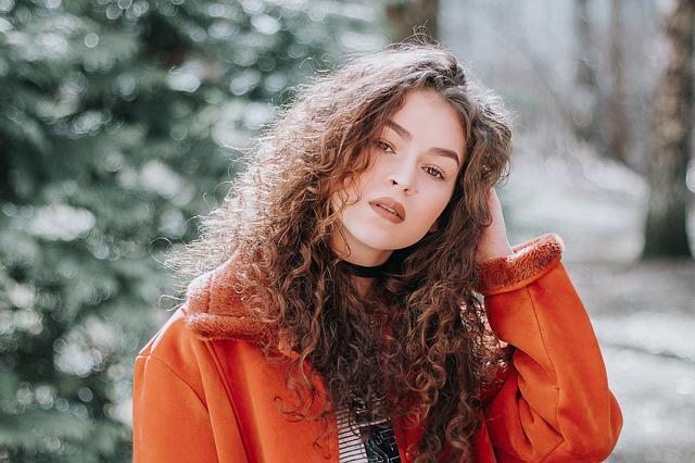 Woman, Model, Pose, Style, Curly Hair, Outdoor, Fashion