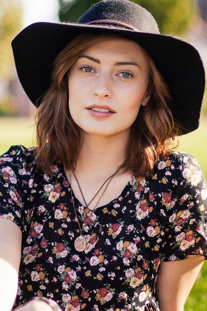 Woman, Portrait, Model, Fashion, Hat, Style
