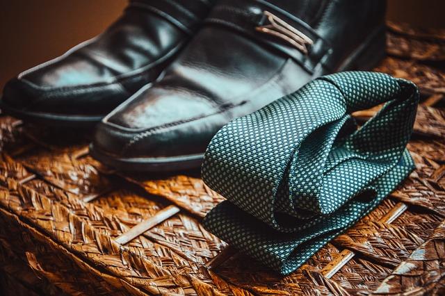 Necktie, Leather Shoes, Fashion, Style, Stylish