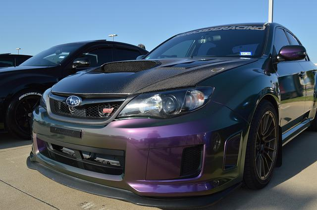 Subaru Wrx Sti, Multi Color, Changing Car, Paint